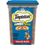 Temptations Jumbo Stuff Savory Salmon Flavor Cat Treats, 14-oz tub