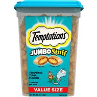 Temptations Jumbo Stuff Tempting Tuna Flavor Cat Treats, 14-oz tub