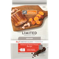 Simply Nourish Limited Ingredient Diet Sweet Potato & Salmon Recipe Senior Dry Dog Food, 11-lb bag