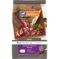 Simply Nourish Lamb & Oatmeal Recipe Adult Dry Dog Food, 15-lb bag