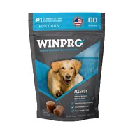 Winpro Pet Allergy Blood Protein Soft Chew Skin & Coat Health Dog Supplement, 60 count
