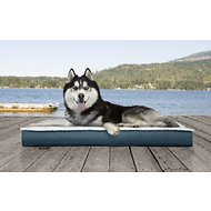 FurHaven Deluxe Outdoor Convertible Orthopedic Dog Bed, Marine Blue, Jumbo