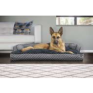 FurHaven Plush & Decor Comfy Couch Pillow Sofa-Style Dog Bed, Diamond Gray, Jumbo