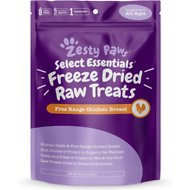 Zesty Paws Freeze-Dried, Raw Human Grade & Free Range Chicken Dogs & Cat Treats, 4.9-oz bottle
