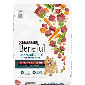 Purina Beneful IncrediBites for Small Dogs with Farm-Raised Beef Dry Dog Food, 14-lb bag