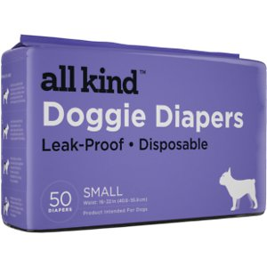 All Kind Disposable Female Dog Diapers, Small, 50 count