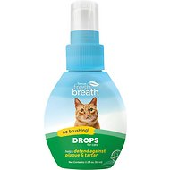 TropiClean Fresh Breath Cat Drops, 2.2-oz bottle