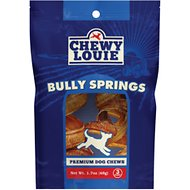 Chewy Louie Bully Springs Dog Treat, 3 count