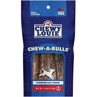 Chewy Louie Chew-A-Bulls Dog Treat, 2 count
