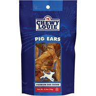 Chewy Louie Pig Ears Dog Treat, 6 count