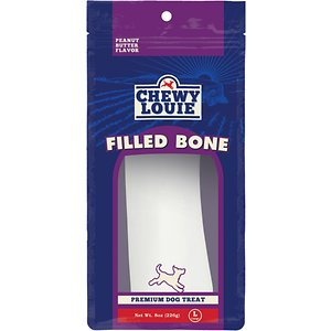 Chewy Louie Peanut Butter Butter Flavor Filled Bone Dog Treat, 1 count, Large