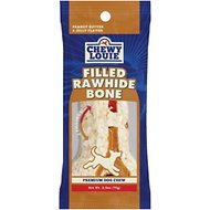 Chewy Louie Peanut Butter & Jelly Flavor Filled Rawhide Bone Dog Treat, 1 count