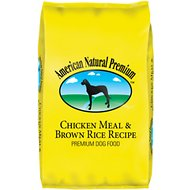 American Natural Premium Chicken Meal & Brown Rice Recipe Dry Dog Food , 33-lb bag