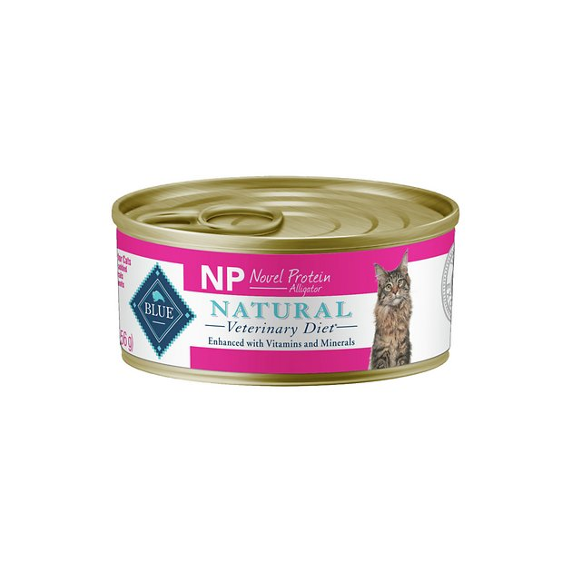 BLUE BUFFALO NATURAL VETERINARY DIET NP Novel Protein Alligator Canned Cat Food, 5.5-oz, case of ...