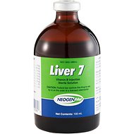 Liver 7 Vitamin Injectable for Horses & Livestock, 100-mL