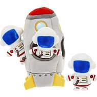 Frisco Hide and Seek Plush Rocket Ship Puzzle Dog Toy