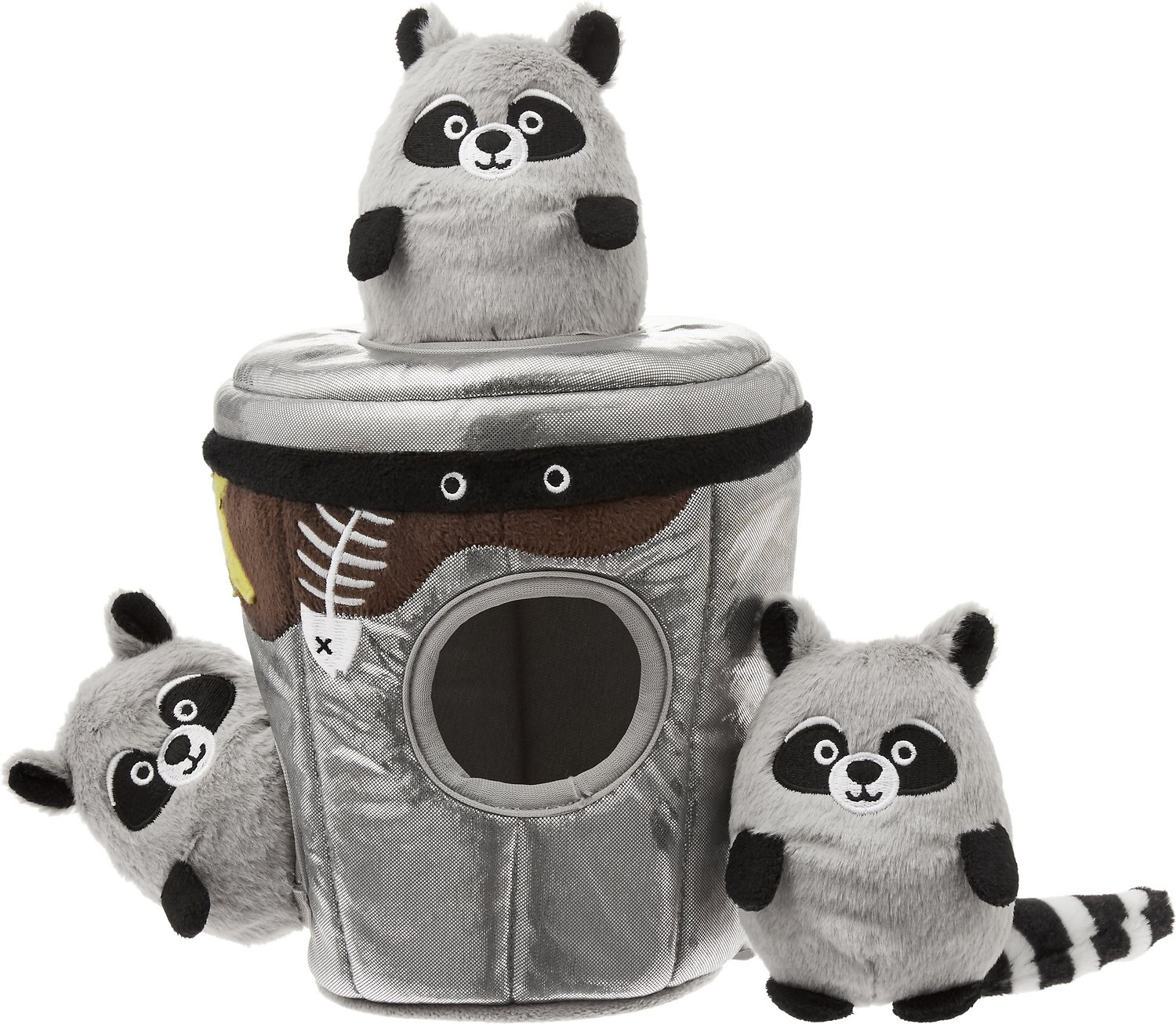 Frisco Hide and Seek Plush Trash Can Puzzle Dog Toy