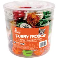 Cat Love Furry Frolics Plastic Balls Cat Toys, 72 count