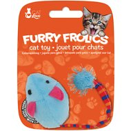Cat Love Furry Frolics Plush Mouse Cat Toy, Blue