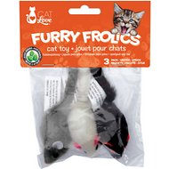 Cat Love Fury Frolics Furry Mice Cat Toy, 3 count