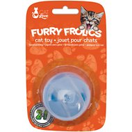 Cat Love Furry Frolics Treat Ball Cat Toy, Blue