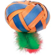 Cat Love Terra Flat Ball with Feathers Cat Toy