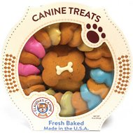 Claudia's Canine Bakery Carousel of Canine Party Bones Baked Dog Treats, 11-oz tub