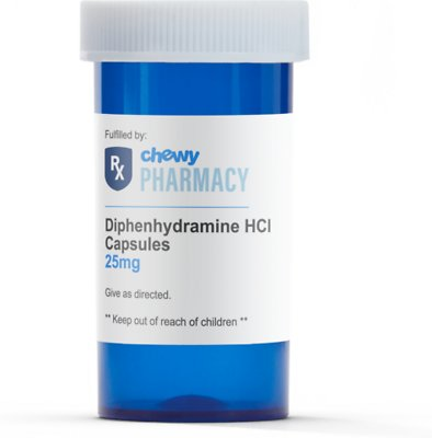 Diphenhydramine HCl (Generic) Capsules, 25-mg, 1 tablet