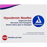 Dynarex Hypodermic Thin Wall 20 Gauge Needles, 1 Inch, 100 count