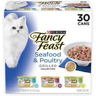 Fancy Feast Grilled Gravy Seafood & Poultry Variety Pack Wet Cat Food, 3-oz, case of 30