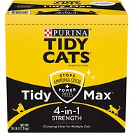 Tidy Max 4-in-1 Strength Scented Clumping Clay Cat Litter, 38-lb box