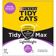 Tidy Max Lightweight Glade Clean Blossoms Scented Clumping Clay Cat Litter, 17-lb box