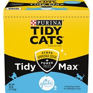 Tidy Max Glade Clear Springs Scented Clumping Clay Cat Litter, 38-lb box