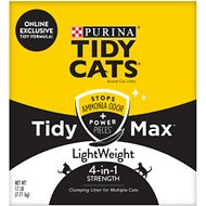 Tidy Max Lightweight 4-in-1 Strength Multi-Cat Clumping Cat Litter, 17-lb box
