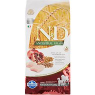 Farmina N&D Ancestral Grain Chicken & Pomegranate Medium & Maxi Adult Dry Dog Food, 26.4-lb bag