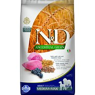 Farmina N&D Ancestral Grain Lamb & Blueberry Medium & Maxi Adult Dry Dog Food, 5.5-lb bag