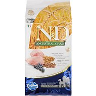 Farmina N&D Ancestral Grain Lamb & Blueberry Medium & Maxi Adult Dry Dog Food, 26.4-lb bag