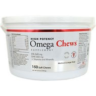 Pet Health Solutions Omega Chews Medium & Large Breed Dog Supplement, 150 count