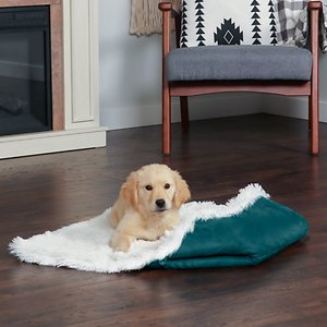 FurHaven Self-Warming Convertible Cuddle Mat Bolster Cat & Dog Bed, Spruce, Large; Give your furry family member the best of four worlds with FurHaven's Self-Warming Convertible Cuddle Pet Bed & Mat. This unique piece can transform into four different designs—Nest, Couch, Canoe and Mat, all thanks to the simple button and elastic loop design (see video for step-by-step instructions). Whichever style your sidekick per-furs, she's bound to love the self-warming comfort that the core has to offer. The core is designed with an insulating fabric that offers a soft surface and reflects your pet's natural body heat back, creating a cozy, warm sleeping environment. Not only is the inside delightful but so is the suedine exterior. Best of all, this innovative piece is also completely machine washable for hassle-free cleaning!