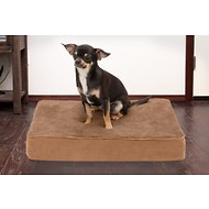 FurHaven Terry Deluxe Memory Foam Pillow Cat & Dog Bed w/Removable Cover