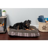 FurHaven Faux Sheepskin & Plaid Deluxe Cat & Dog Bed w/Removable Cover