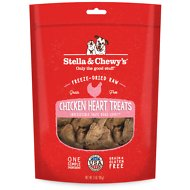 Stella & Chewy's Chicken Hearts Freeze-Dried Raw Dog Treats, 3-oz bag