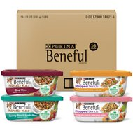 Purina Beneful Prepared Meals & Chopped Blends Variety Pack Wet Dog Food, 10-oz tub, case of 16