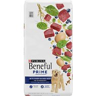 Purina Beneful Prime Farm-Raised Beef High Protein Dry Dog Food, 26-lb bag