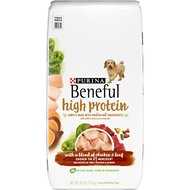 Purina Beneful High Protein Chicken & Beef Dry Dog Food, 26-lb bag