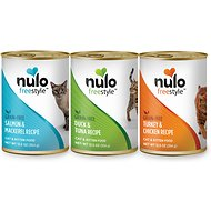 Nulo Freestyle  Duck & Tuna, Turkey & Chicken, Salmon & Mackerel Grain-Free Variety Pack Canned Cat Food, 12.5-oz, case of 12