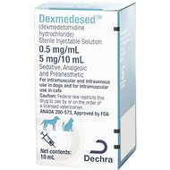 Dexmedesed Injectable Solution for Dogs & Cats, 0.5 mg/mL, 10-mL Vial