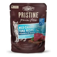Castor & Pollux Pristine Grain-Free Wild-Caught Tuna Recipe Morsels in Gravy Cat Food Pouches, 3-oz, case of 24