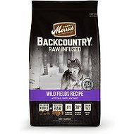 Merrick Backcountry Raw Infused Wild Fields Recipe Duck, Rabbit, & Quail Grain-Free Dry Dog Food , 12-lb bag