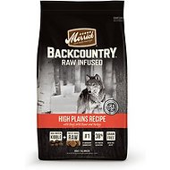 Merrick Backcountry Raw Infused High Plains Recipe with Beef, Wild Boar, & Turkey Grain-Free Dry Dog Food, 22-lb bag